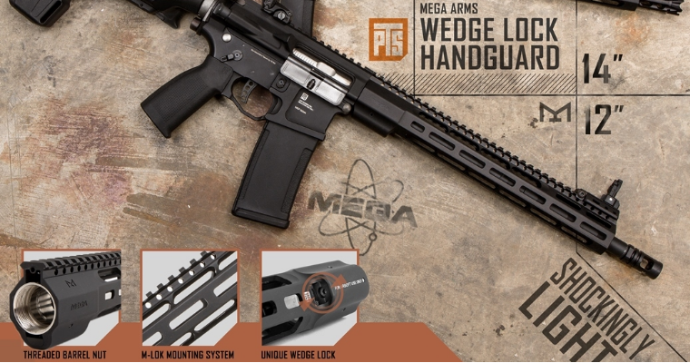 PTS Mega Arms Wedge Lock Handguard 12""