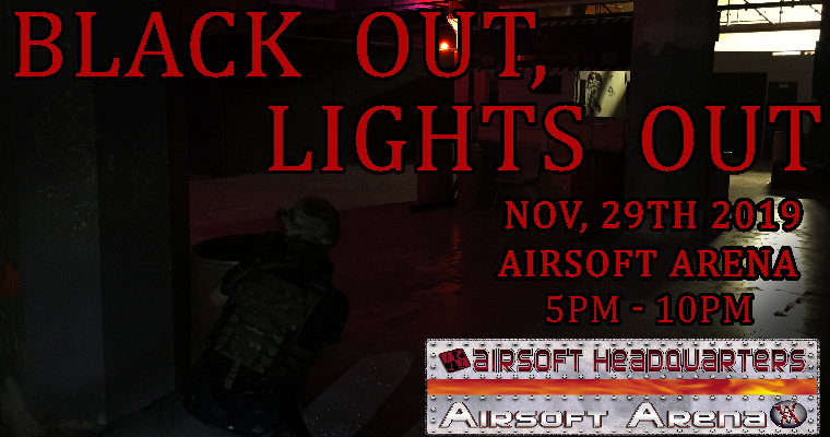 Lights Out at the Airsoft Arena