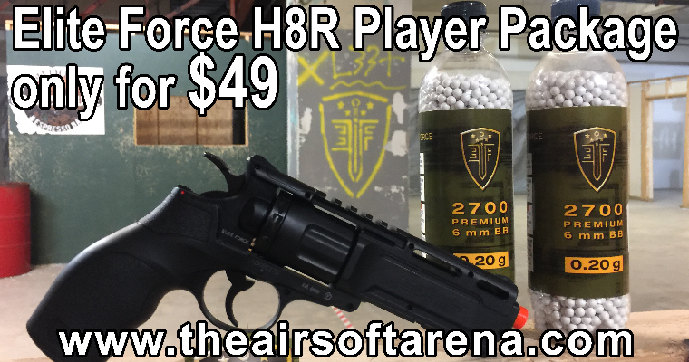 Airsoft Arena Player Package featuring H8R package