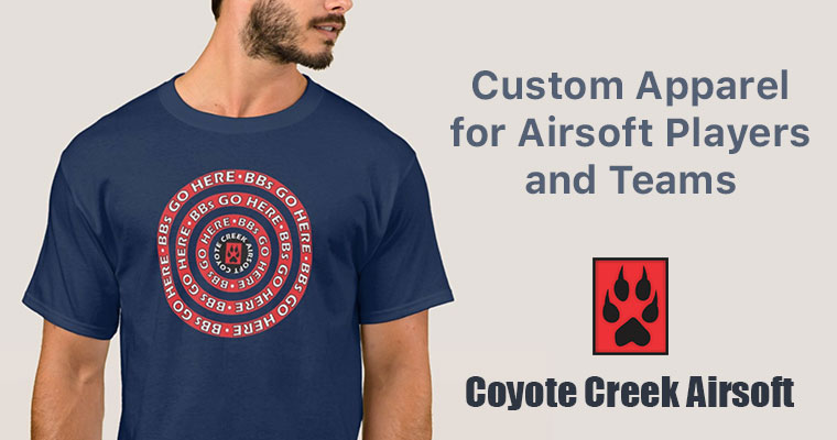 BBs Go Here: Custom Apparel for Airsoft Players and Teams