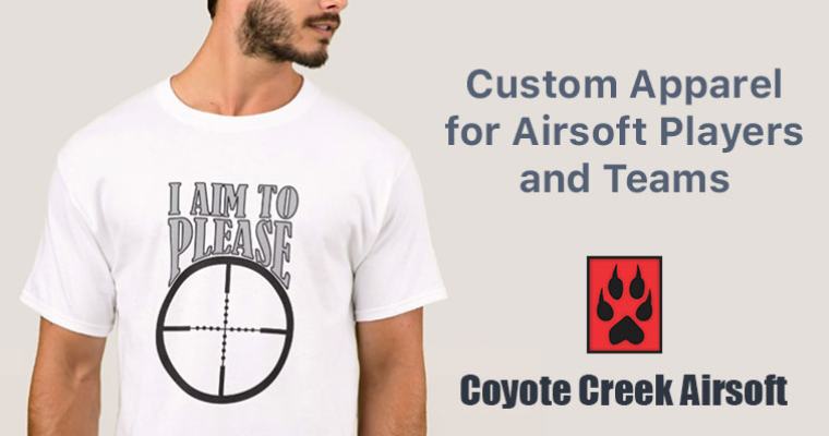 I Aim to Please: Custom Apparel for Airsoft Players and Teams